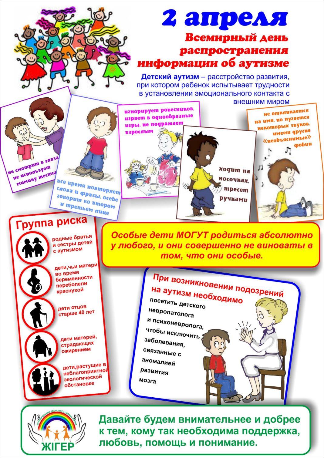 Всемирный день распространения информации об аутизме.